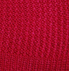 Red Sweater Ribbing pattern